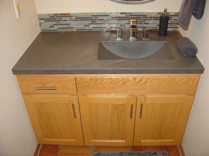 bathroom concrete vanity sink portfolio north metro twin cities